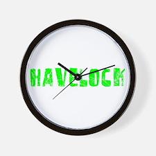 Havelock Faded (Green) Wall Clock