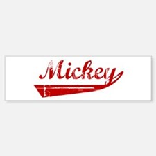 Mickey (red vintage) Bumper Bumper Bumper Sticker