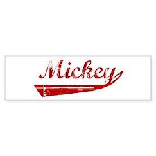Mickey (red vintage) Bumper Bumper Sticker