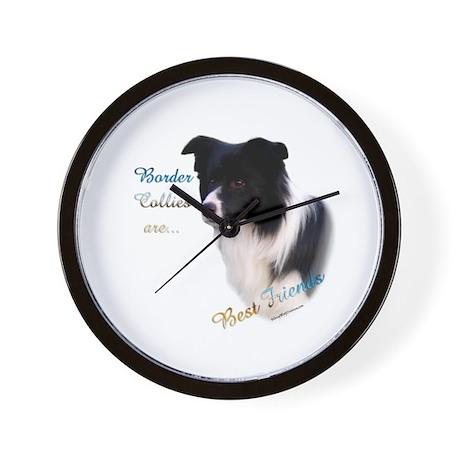 Border Collie Best Friend1 Wall Clock