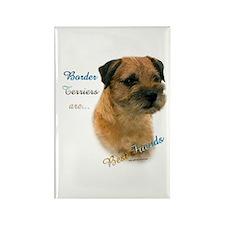 Border Terrier Best Friend1 Rectangle Magnet