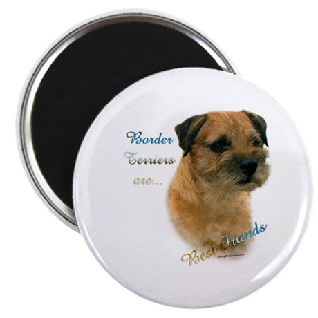 "Border Terrier Best Friend1 2.25"" Magnet (100 pack"