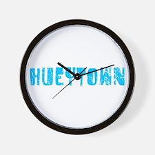 Hueytown Faded (Blue) Wall Clock