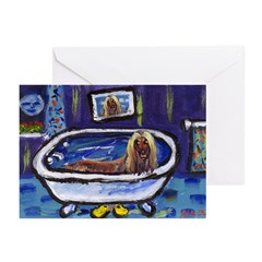 AFGHAN takes bath Greeting Cards (Pk of 10)