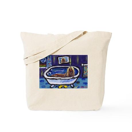 AFGHAN takes bath Tote Bag