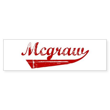 Mcgraw (red vintage) Bumper Sticker