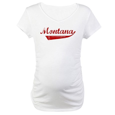 Montana (red vintage) Maternity T-Shirt