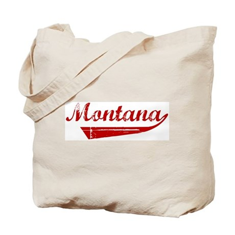 Montana (red vintage) Tote Bag