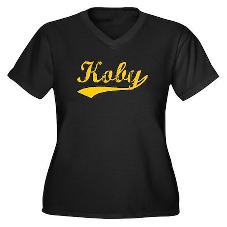 Vintage Koby (Orange) Women's Plus Size V-Neck Dar