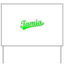 Retro Tamia (Green) Yard Sign