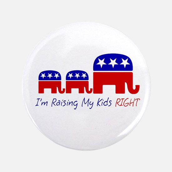 "Raising My Kids Right 3.5"" Button"