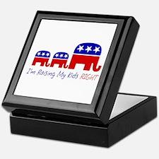 Raising My Kids Right Keepsake Box