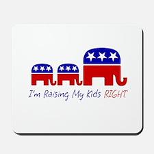 Raising My Kids Right Mousepad
