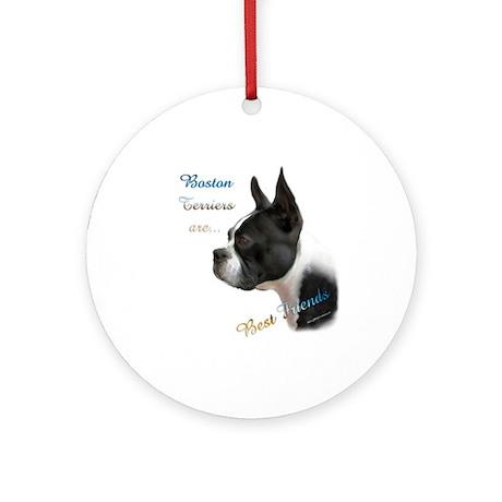 Boston Best Friend1 Ornament (Round)