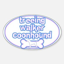Powderpuff Treeing Walker Coonhound Oval Decal