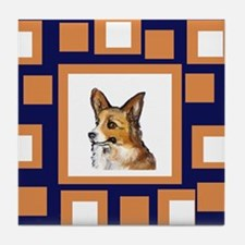 CORGI Orange Pop Design Tile Coaster