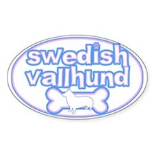 Powderpuff Swedish Vallhund Oval Decal