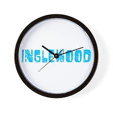 Inglewood Faded (Blue) Wall Clock