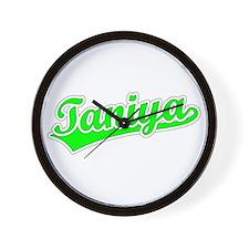 Retro Taniya (Green) Wall Clock