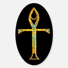 Gold / Black Ankh Oval Decal