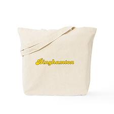 Retro Binghamton (Gold) Tote Bag