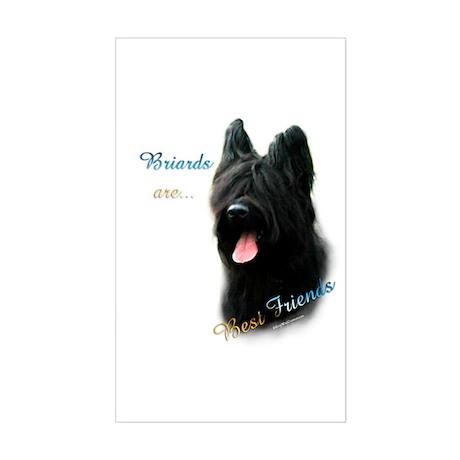 Briard Best Friend1 Rectangle Sticker