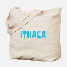 Ithaca Faded (Blue) Tote Bag