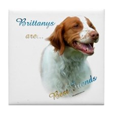 Brittany Best Friend1 Tile Coaster