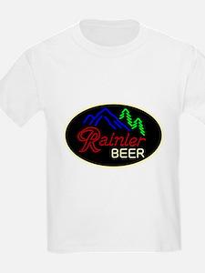 Rainier neon sign oval T-Shirt