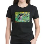 Irises / Miniature Schnauzer Women's Dark T-Shirt
