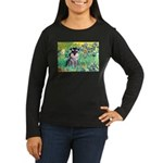 Irises / Miniature Schnauzer Women's Long Sleeve D