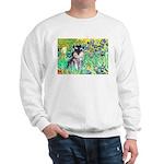 Irises / Miniature Schnauzer Sweatshirt