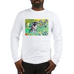 Irises / Miniature Schnauzer Long Sleeve T-Shirt