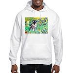 Irises / Miniature Schnauzer Hooded Sweatshirt