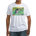 Irises / Miniature Schnauzer Fitted T-Shirt