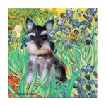 Irises / Miniature Schnauzer Tile Coaster