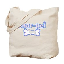Powderpuff Shar Pei Tote Bag
