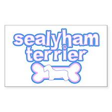 Powderpuff Sealyham Terrier Rectangle Decal