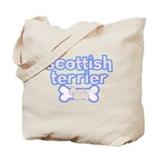 Powderpuff Scottish Terrier Tote Bag