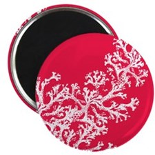 """Coral Pattern 2.25"""" Magnet (10 pack)"""