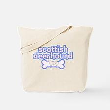 Powderpuff Scottish Deerhound Tote Bag