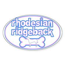 Powderpuff Rhodesian Ridgeback Oval Decal