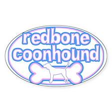 Powderpuff Redbone Coonhound Oval Decal