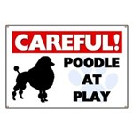 Poodle At Play Banner