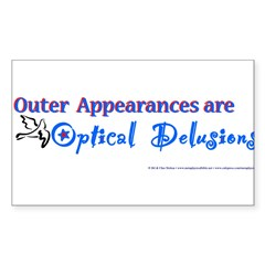 Optical Delusions Rectangle Sticker 50 pk)