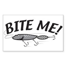 Bite Me Fishing Lure Rectangle Decal