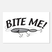 Bite Me Fishing Lure Postcards (Package of 8)