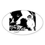 SWEET DOG Oval Sticker