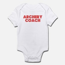 Retro Archery Coach (Red) Infant Bodysuit