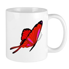 Red Flutters Small Mug